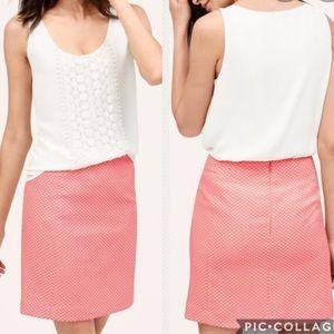 LOFT- pink polka dot skirt